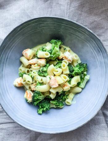 Wok de brocolis et crevettes