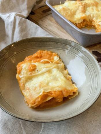 Lasagnes courge, patate douce et chèvre