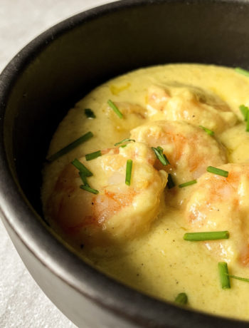 Sauce aux crevettes et au parmesan