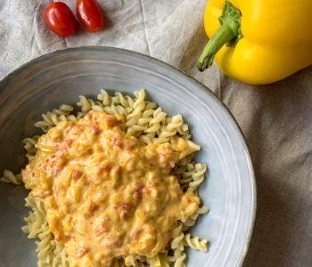 Pate sauce poivron et tomates