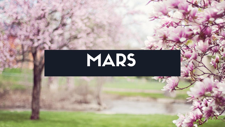 Fruits, légumes et recette du mois de mars