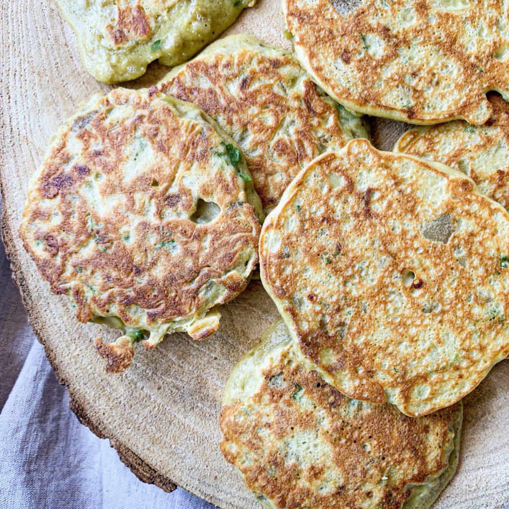 Pancake aubergine