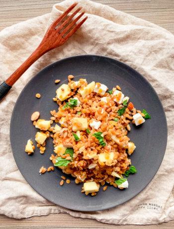 Salade de petit épeautre et lentilles corail