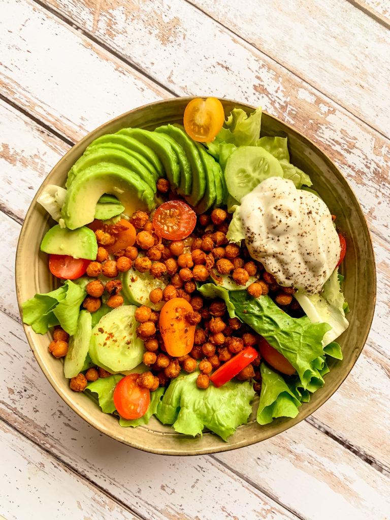 Salade aux pois chiche grillés