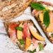 Tartines jambon nectarine