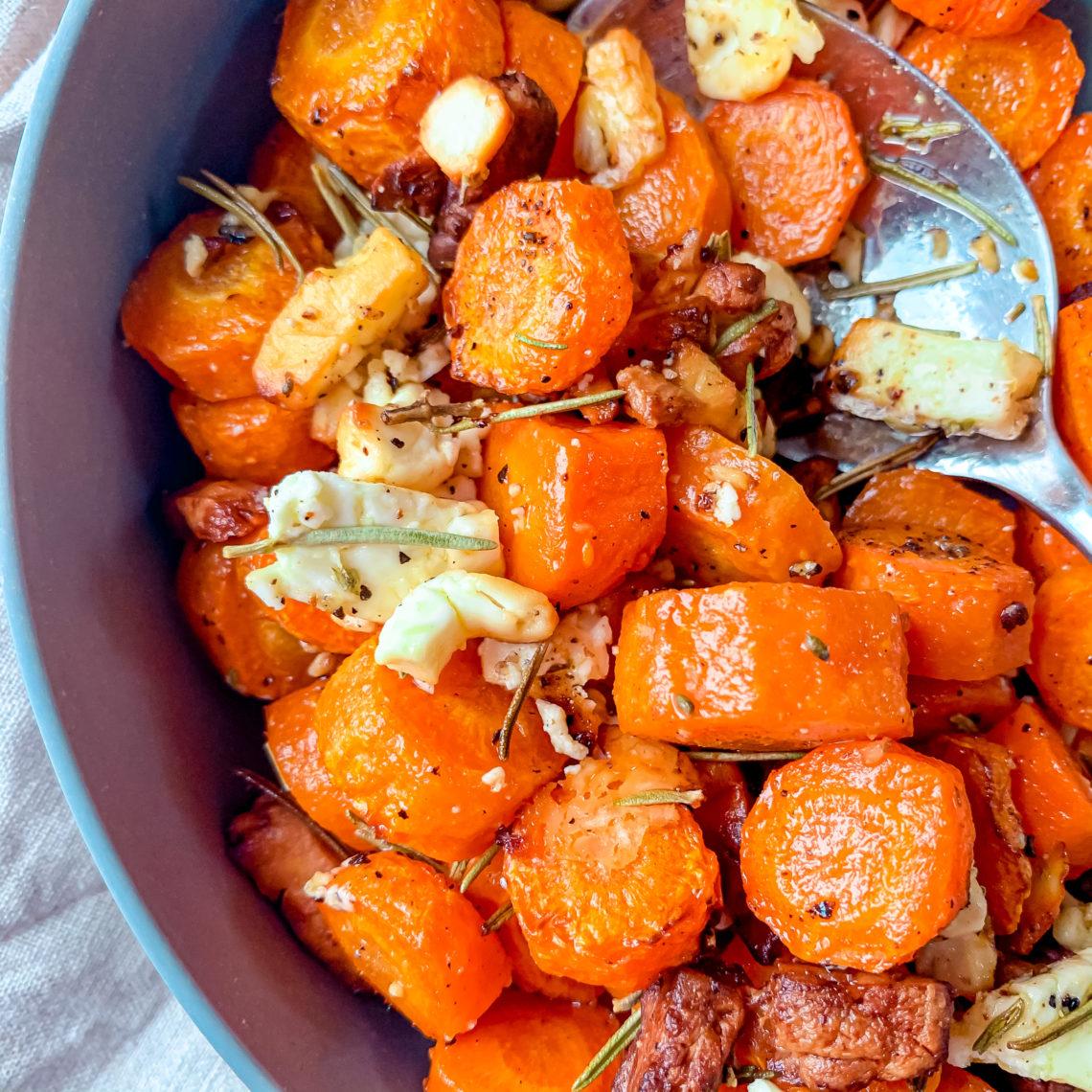 carottes et feta rôtis au romarin