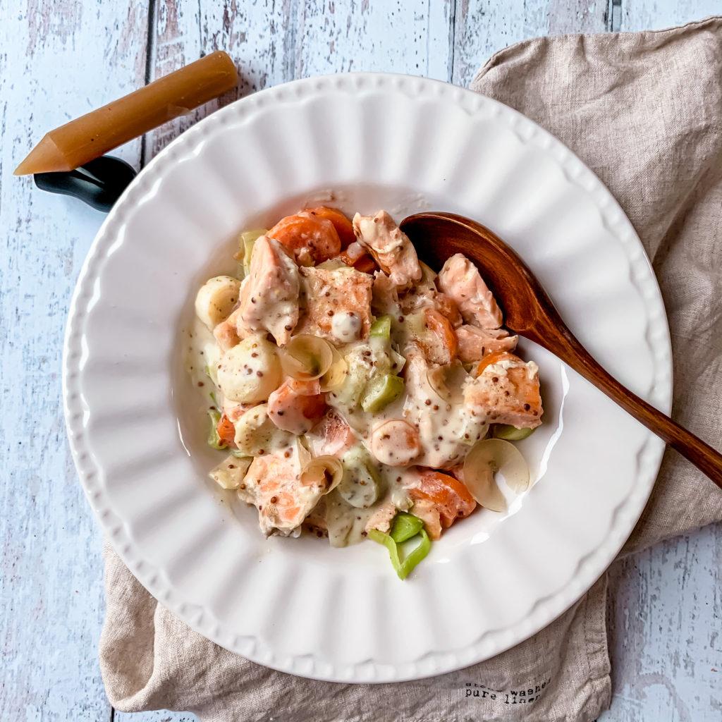 Blanquette de saumon au yuzu