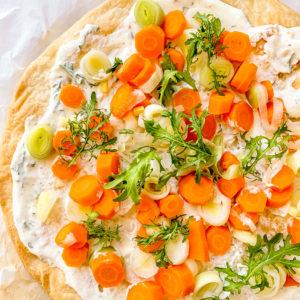 tarte poireaux carottes
