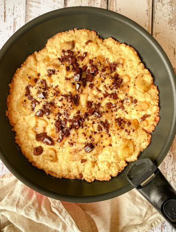 Cookie à la poêle banane chocolat