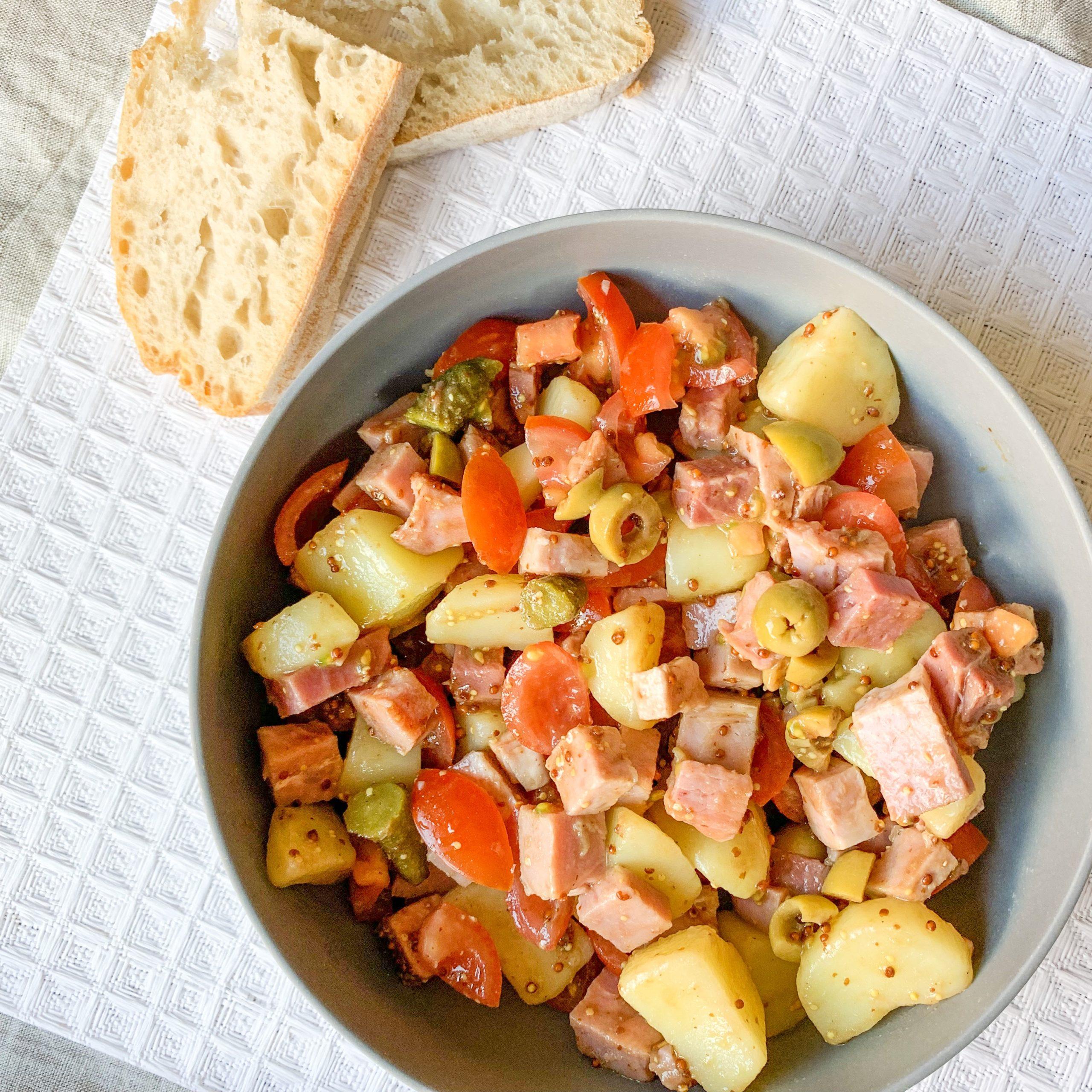 Salade de pomme de terre façon piémontaise