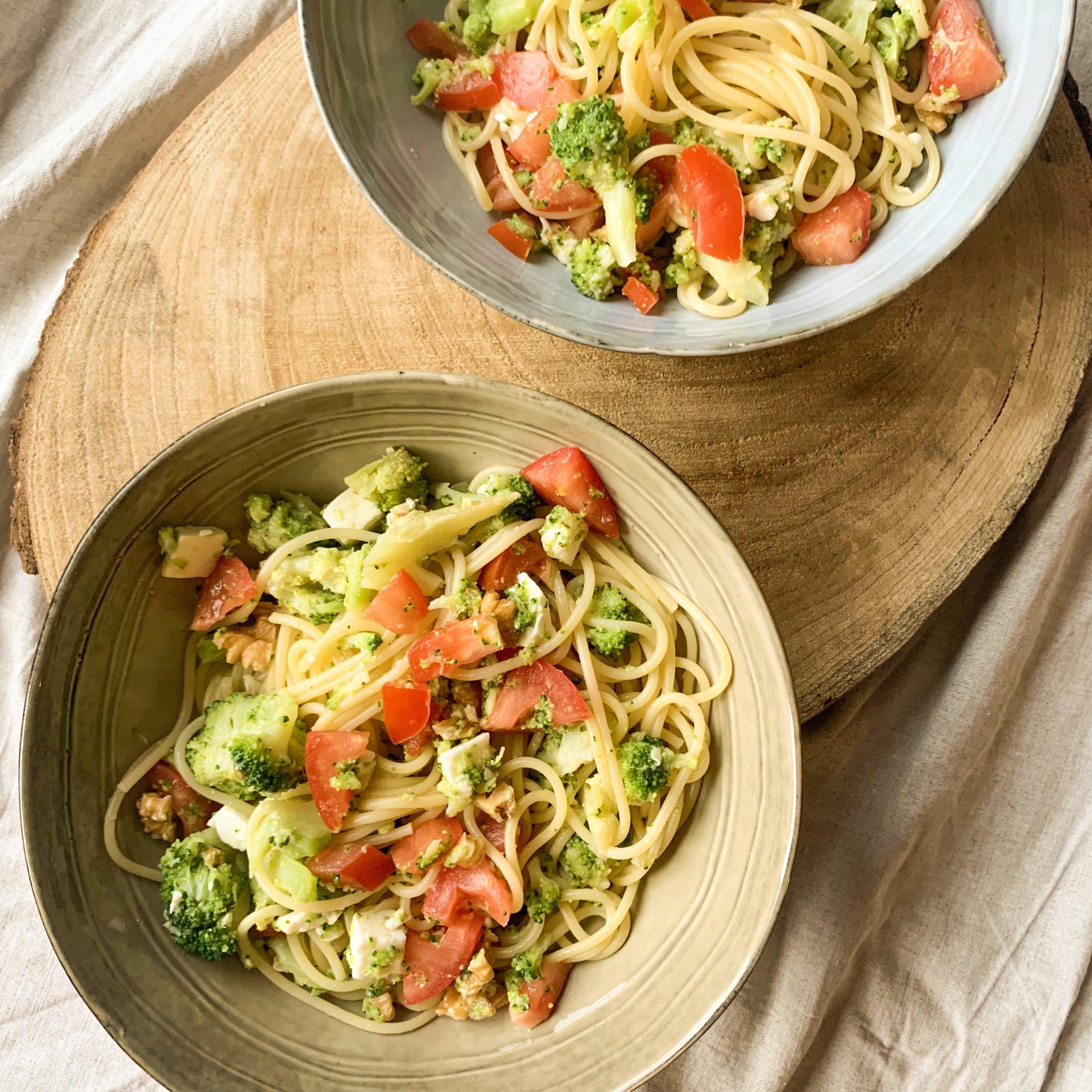 Spaghetti aux brocolis