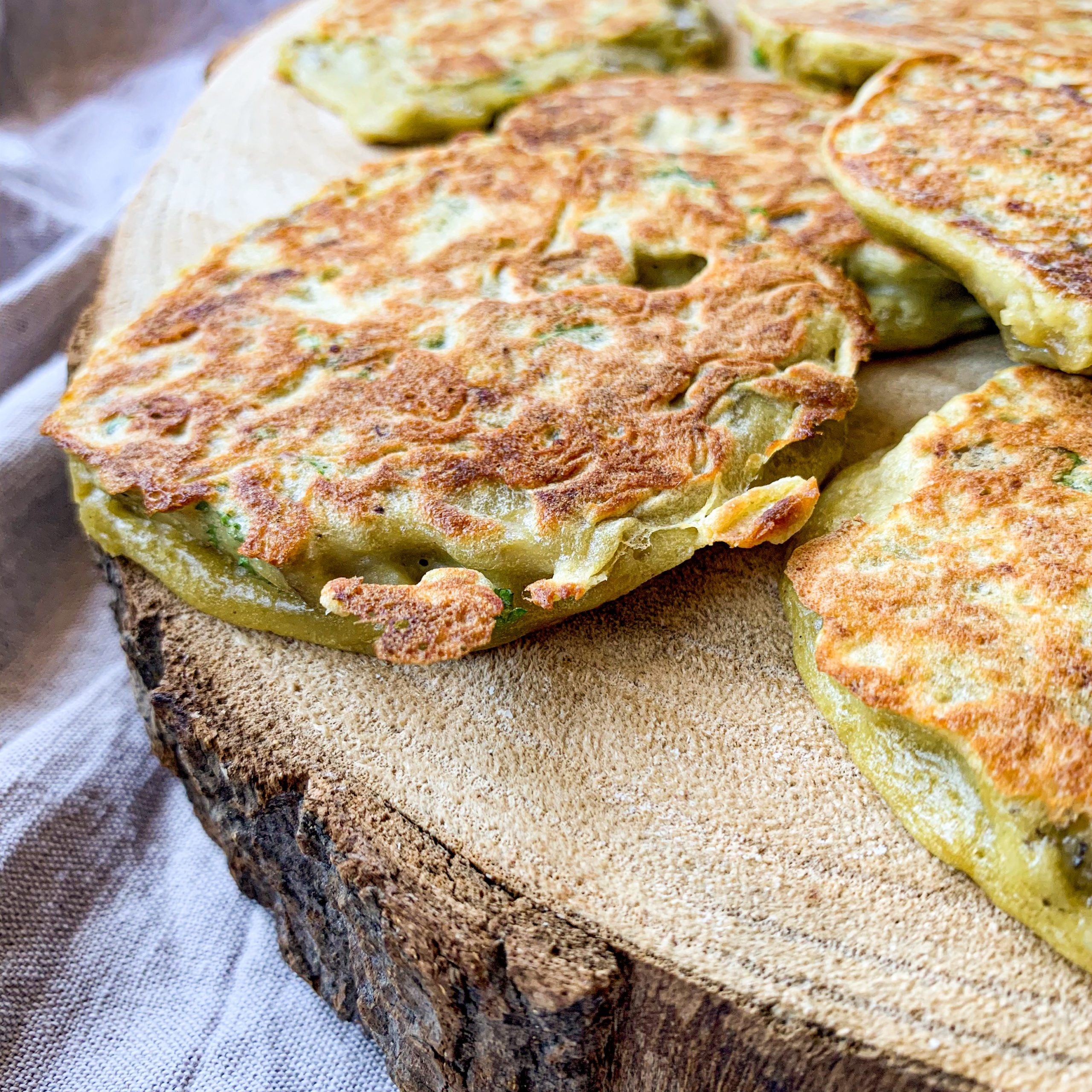 Pancakes d'aubergine
