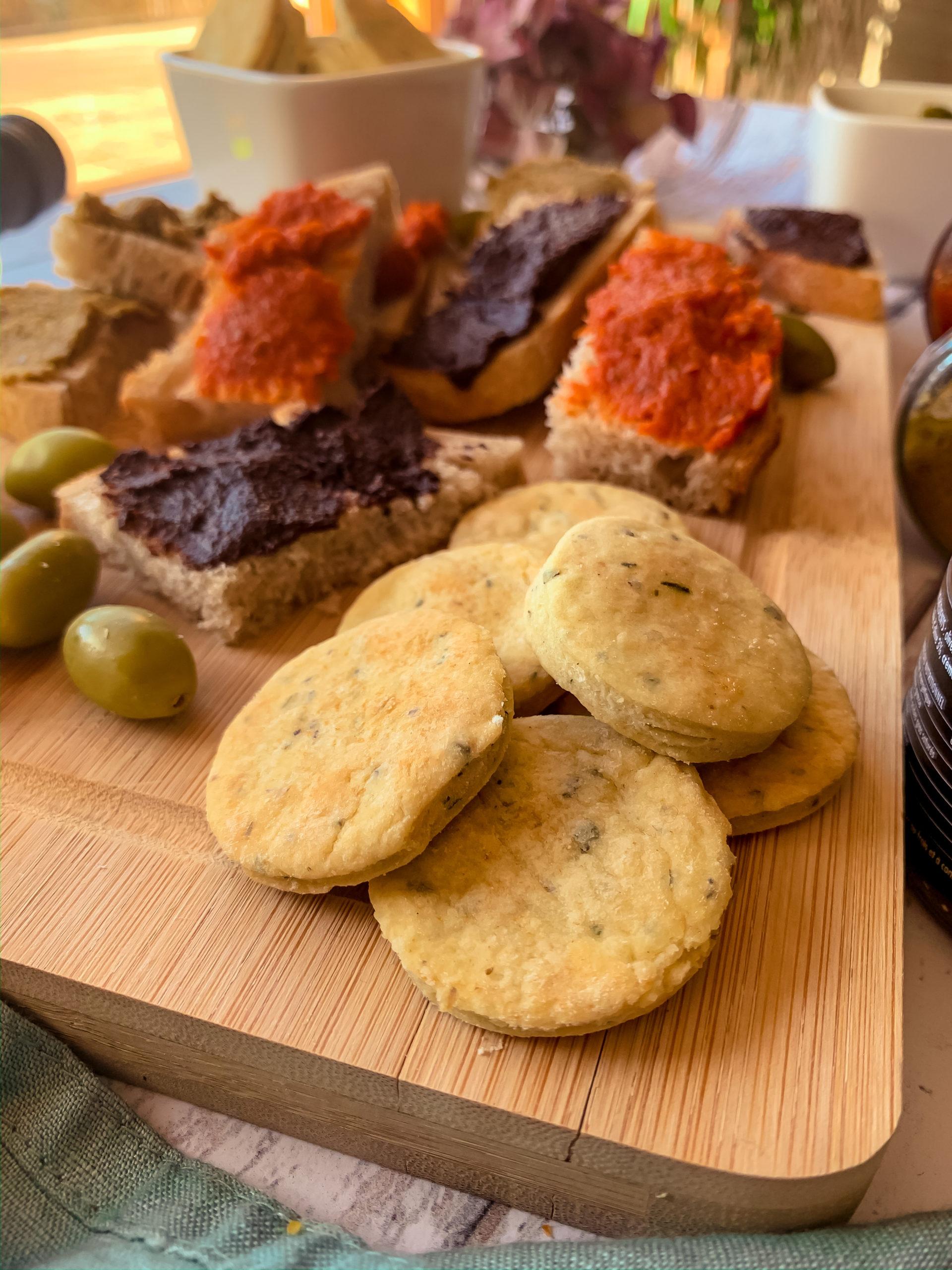 Biscuits apéritifs à l'huile d'olive