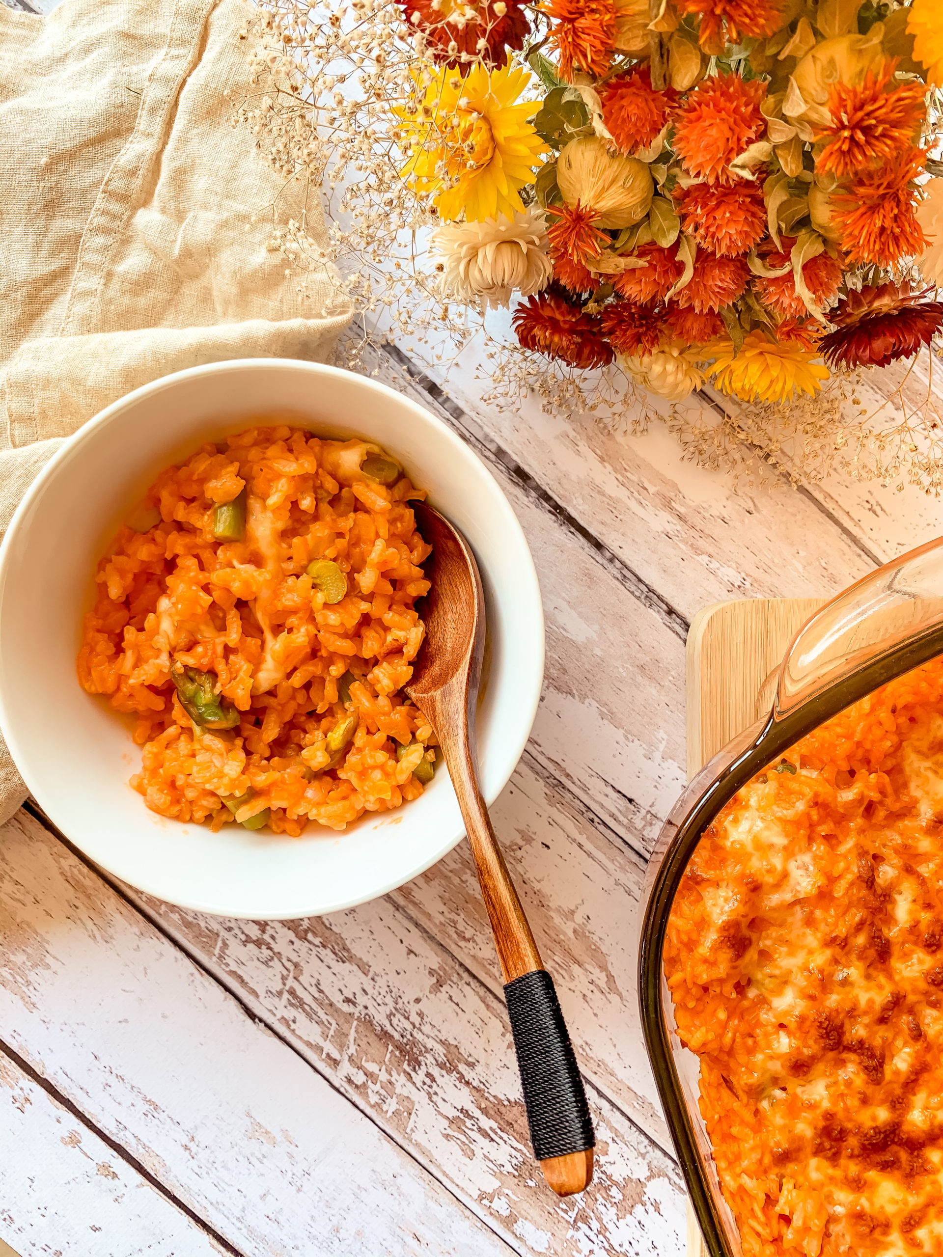 Risotto aux asperges et mozzarella