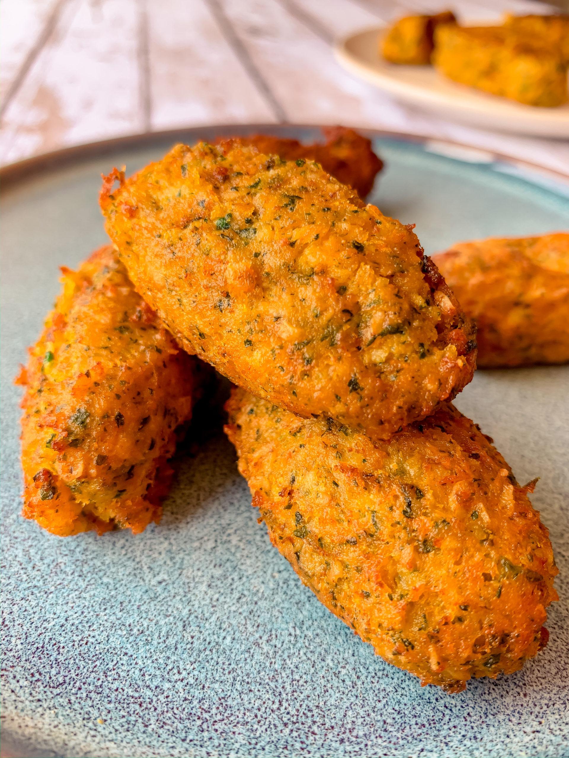 Beignets de saumon et patate douce