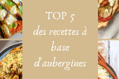 5 recettes à base d'aubergine